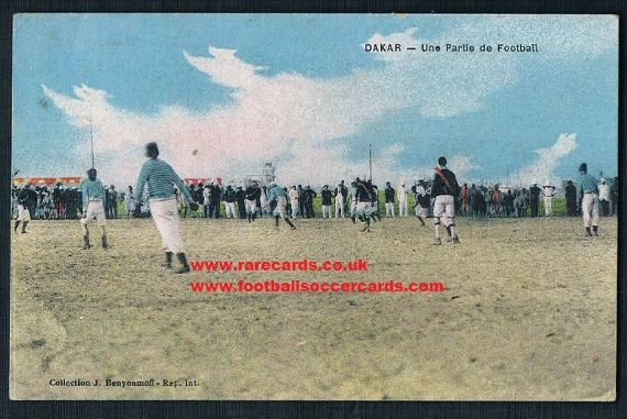 1923 postcard Senegal football Dakar pc